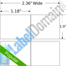 "1.18"" x 1.0"" 2-UP LD-10010052 Removable"
