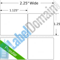 "1.125"" x 1.25"" 2-UP LD-800127-101 Removable"